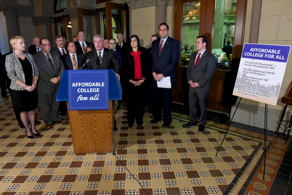 "Assemblywoman Walsh (R,C,I,Ref-Ballston) at Monday's ""Affordable College For All Initiative"" press conference"