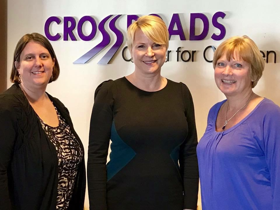 Assemblywoman Mary Beth Walsh (R,C,I,Ref-Ballston) pictured with Executive Director Kelly Young and Resource Development Specialist Vicki Romotar.