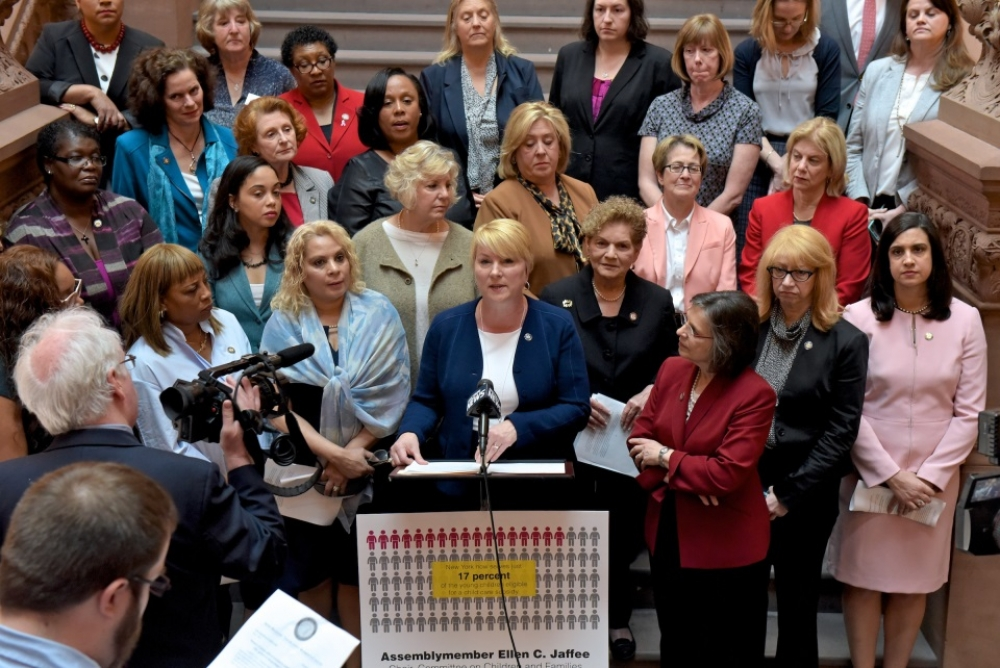 Assemblywoman Mary Beth Walsh (R,C,I,Ref-Ballston) joined the Legislative Women's Caucus at the state capitol on Wednesday, May 3 for a press event detailing this year's budget impacts on the organization's priorities<br />