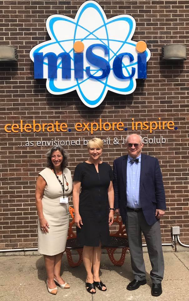 Assemblywoman Mary Beth Walsh tours Museum of Innovation & Science (MiSci) in Schenectady with Executive Director Mac Sudduth and VP of Development Carmel Patrick.<br />