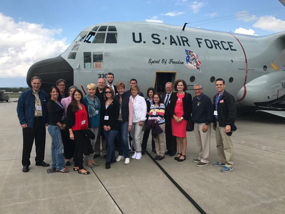 Assemblywoman Walsh joins Legislative Colleagues and members of the Capital Region Chamber of Commerce to about the Unified Military Affairs Council – UMAC and fly in a C-130 cargo plane around the Capital Region and beyond.<br />