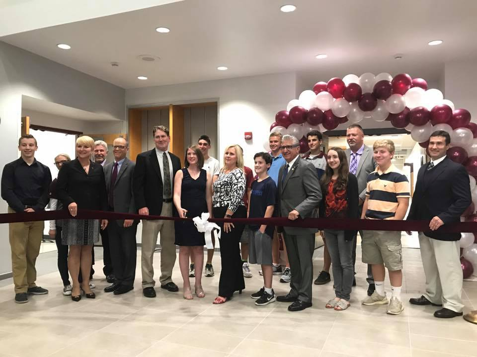 Assemblywoman Mary Beth Walsh participates in Burnt Hills-Ballston Lake's Science, Technology, Engineering, Arts and Math (STEAM) wing's Grand Opening.<br />