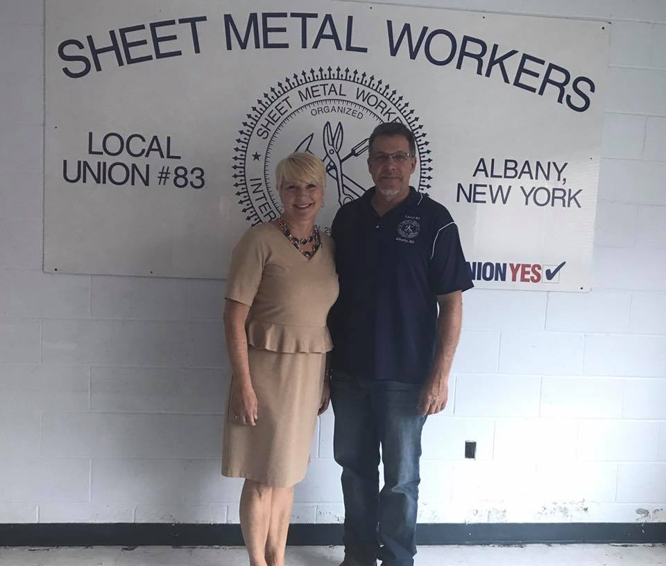 Assemblywoman Mary Beth Walsh tours the current site of the Sheet Metal Association's facility with Phil Stenglein. The facility will soon be relocating to their new home in Clifton Park.<br />