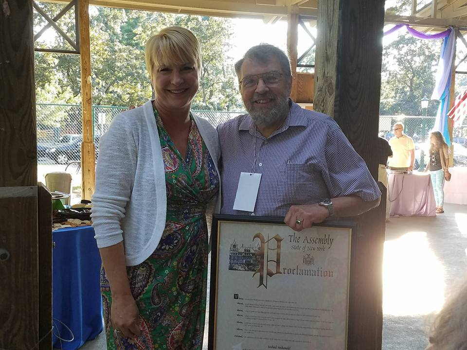 "Assemblywoman Mary Beth Walsh with Michael Hochanadel,  the 2017 ""Music Haven Maven"" honoree!"