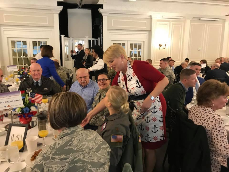 What a beautiful day to honor and serve our veterans at the Glen Sanders Mansion with UMAC and the Capital Region Chamber of Commerce. Hearing from WW2 Navy veteran Steve Dennis about his service was awe-inspiring. Thank you to the men and women who have served our country and for the sacrifices they have made for our freedom.<br />&nbsp;