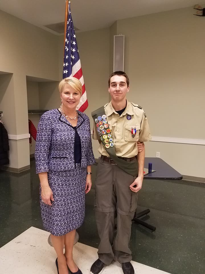 Congratulations to Jacob Smithgall on becoming an Eagle Scout! I was honored to be a part of his ceremony last night, although I could not have been as proud as his parents, four grandparents, and family who joined in the celebration! Jacob&#39;s Eagle Scout project included improvements to the Ballston Lake fishing pier, which I am sure will be enjoyed by many for years to come!<br />&nbsp;