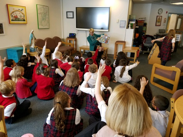 In partnership with the 'Teach a Girl to Lead' program, Assemblywoman Mary Beth Walsh (R,C,I,Ref-Ballston) visited first and second graders at St. Mary's school to discuss fostering more i