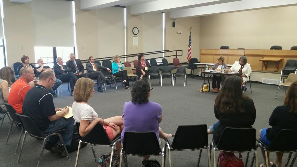 In May 2015, Assemblywoman Woerner hosted several listening sessions about public education with our region's new representative on the Board of Regents, Beverly Ouderkirk. She invited parents, teache
