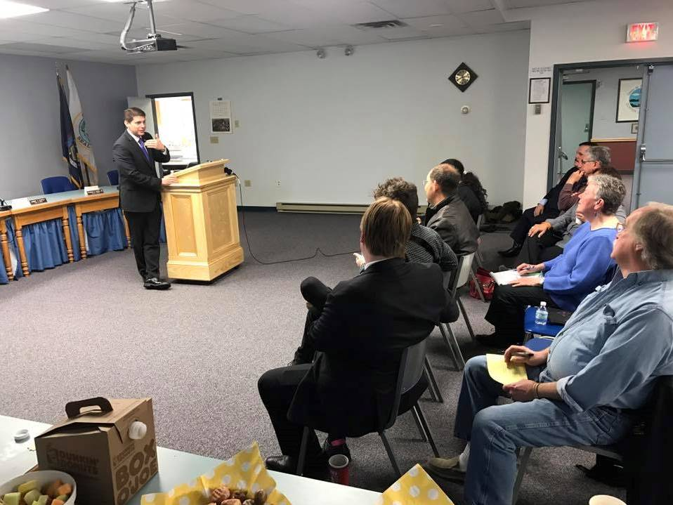 "In April 2017, Assemblyman Jones hosted a ""Breakfast with Billy"" in Plattsburgh. He answered constituent questions about the state budget and discussed community concerns.<br />"