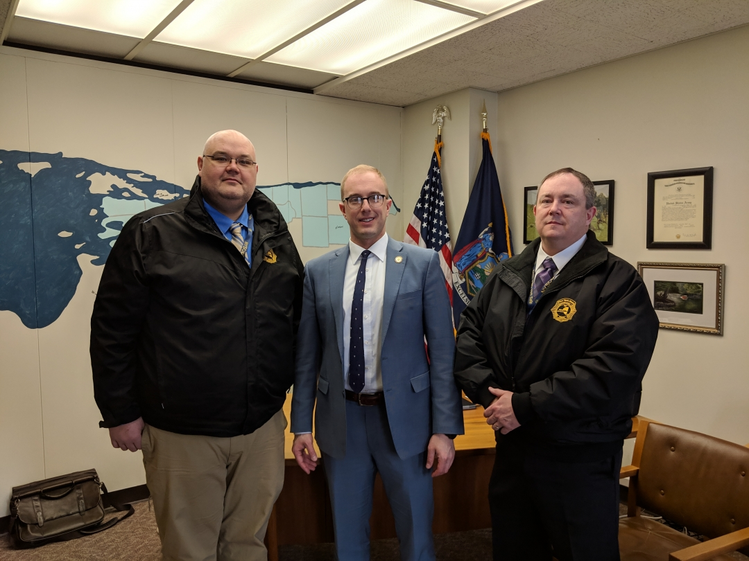 Assemblyman Walczyk is seen in the attached photo with Kevin Aldous and Jim Belski from NYSCOBA