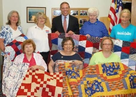 Assemblyman Will Barclay (R,C,I—Pulaski) recently honored local quilters who donated handmade quilts to the Quilts of Valor Foundation.