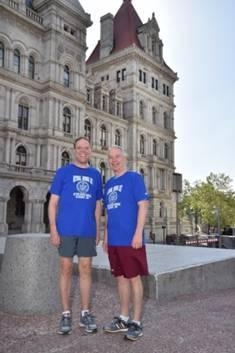 Local Assemblymen Will Barclay (R, C, I—Pulaski) and Bob Oaks (R,C—Macedon) participated in the annual National Running Day event at the New York State Capitol complex in Albany on the morning of June 3rd. The event is a national initiative to promote running as a healthy, easy and accessible form of exercise. Both Barclay and Oaks have been lifelong runners. There was also a resolution supported by both state legislators that proclaimed June 3, 2015 as Running Day in the State of New York.