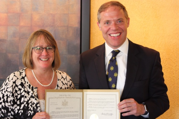 Assemblyman Will Barclay (R,C, I — Pulaski) recently honored Zonta Club of Oswego for celebrating its 60th anniversary.