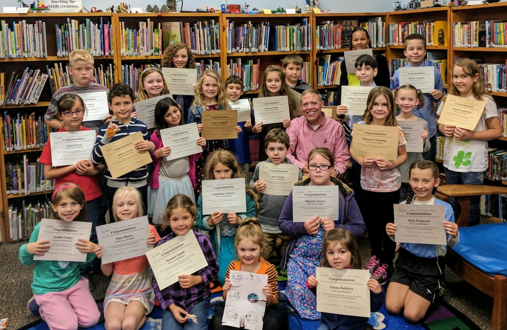 Assemblyman Will Barclay (R,C,I-Pulaski) recently held his Summer Reading Challenge reward party at the Fulton Public Library.<br />