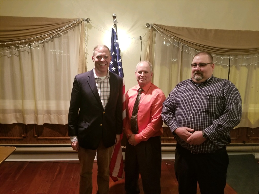 Assemblyman Will Barclay (R,C,I,Ref—Pulaski) recently attended the Oswego County Sportsmen Federation's annual banquet where he discussed legislation proposed by downstate lawmakers that wou