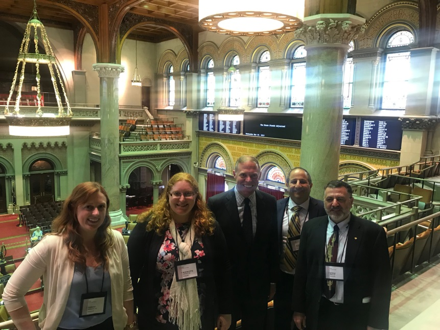 Assemblyman Will Barclay (R,C,I-Ref-Pulaski) is pictured along with, from left, Sarah Barnard, Nicolette Havrish, Joseph Piraino, and Steven Busa, in the Capitol Building on Wednesday, May 8. Havrish