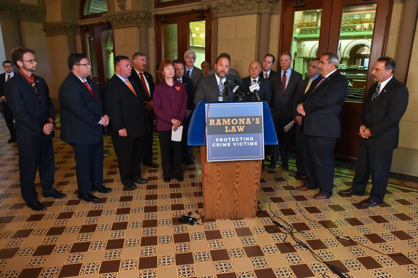 Assemblyman Will Barclay (R,C,I-Ref-Pulaski) attends Ramona's Law press conference on Tuesday, May 21.