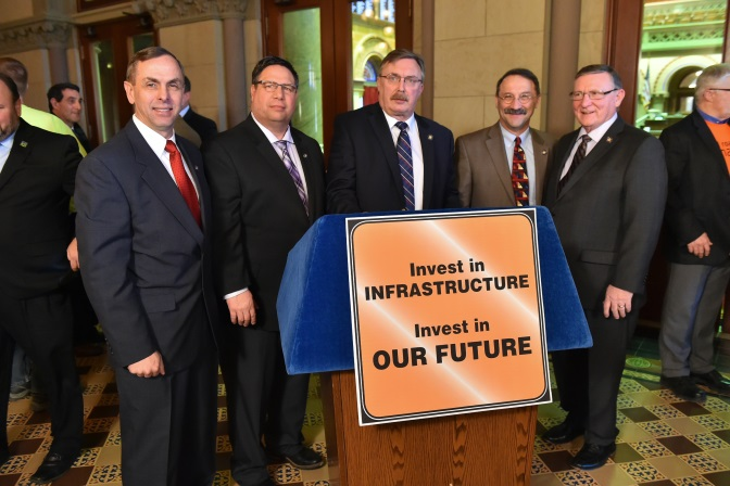 Assemblyman John Salka (R,C,Ref-Brookfield) at the Assembly Minority Task Force on Critical Infrastructure and Transportation press conference on Monday January, 28.