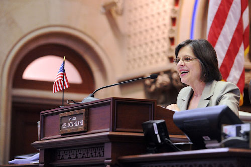 May 9, 2011 – Assemblywoman Lupardo presiding over the Assembly session.