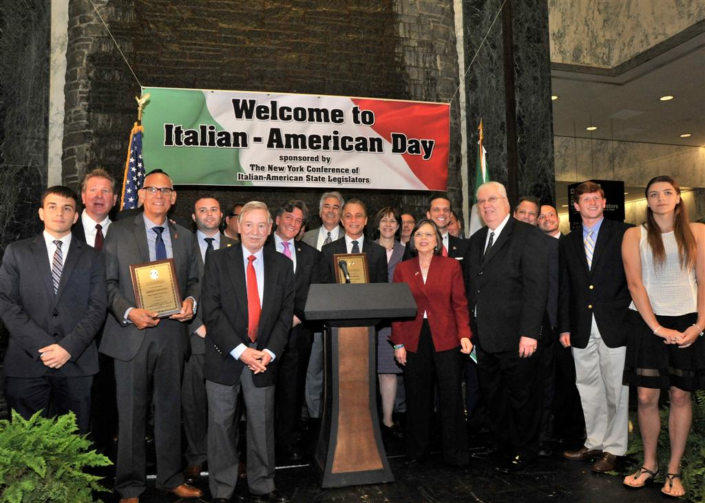 June 9, 2014: The New York Conference of Italian-American State Legislators honored actor Tony Danza and drummer Liberty DeVito, along with several scholarship winners at its annual Italian Day at the Capitol.