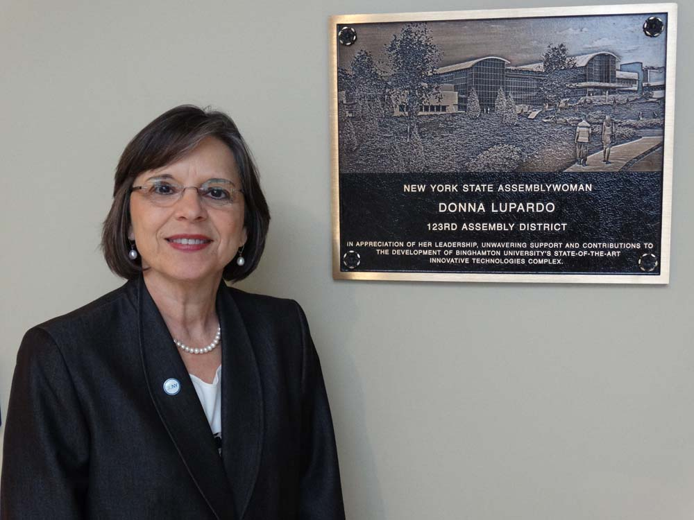 October 22, 2014 – Assemblywoman Donna Lupardo at the grand opening of Binghamton University's Center of Excellence for Small Scale Systems Packaging & Integration.