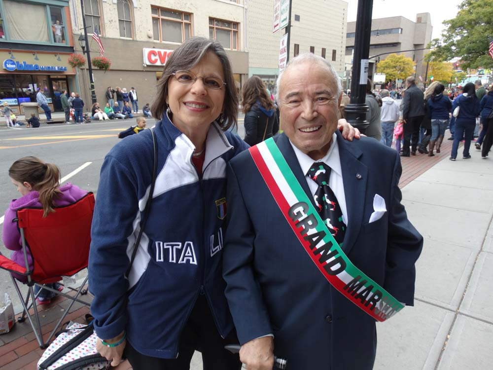 October 13, 2014 – Assemblywoman Donna Lupardo, President of the New York Conference of Italian-American State Legislators, enjoys the annual Columbus Day Parade and Tournament of Bands in Downtown Binghamton.