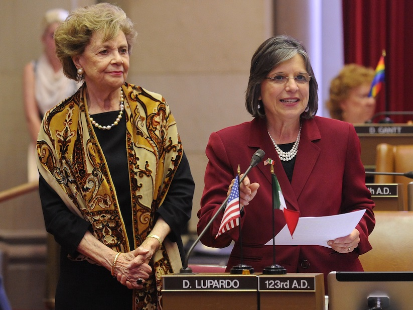 June 8, 2015 – Assemblywoman Lupardo introduces Matilda Raffa Cuomo on the floor of the Assembly. She received a 2015 Lifetime Achievement Award presented by the New York Conference of Italian-American Legislators in honor of her inspiring commitment to public service.