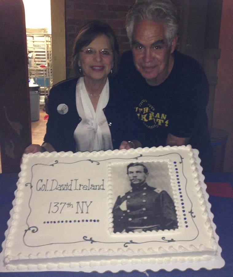 November 6, 2015 – Assemblywoman Lupardo and local artist Tom Haines at an event to support the erection of a monument to honor local Civil War veterans.