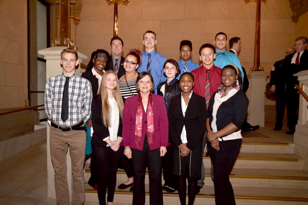 February 8, 2016 – Assemblywoman Lupardo meets with students from Binghamton High School's Upward Bound program.