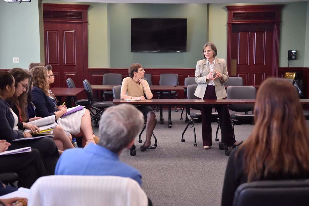 June 2, 2016 – Assemblywoman Lupardo, Chair of the Legislative Women's Caucus, leads a discussion during a panel on women in government.