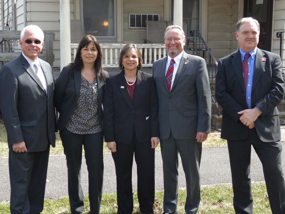 March 24, 2016 – Assemblywoman Lupardo with colleague Assemblyman Cliff Crouch, Commissioner of Agriculture & Markets Richard Ball, Cornell Cooperative Extension Director Chris Watkins, and CCE Broome County Executive Director Victoria Giarratano after an announcement regarding the new Agriculture Development Center at CCE.