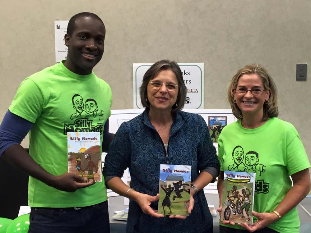 September 25, 2016 – Assemblywoman Lupardo with Marcus Mohalland and Janet Lewis Zelesnikar, local children's authors, at an event celebrating National Adult Education & Family Literacy Week.<br />