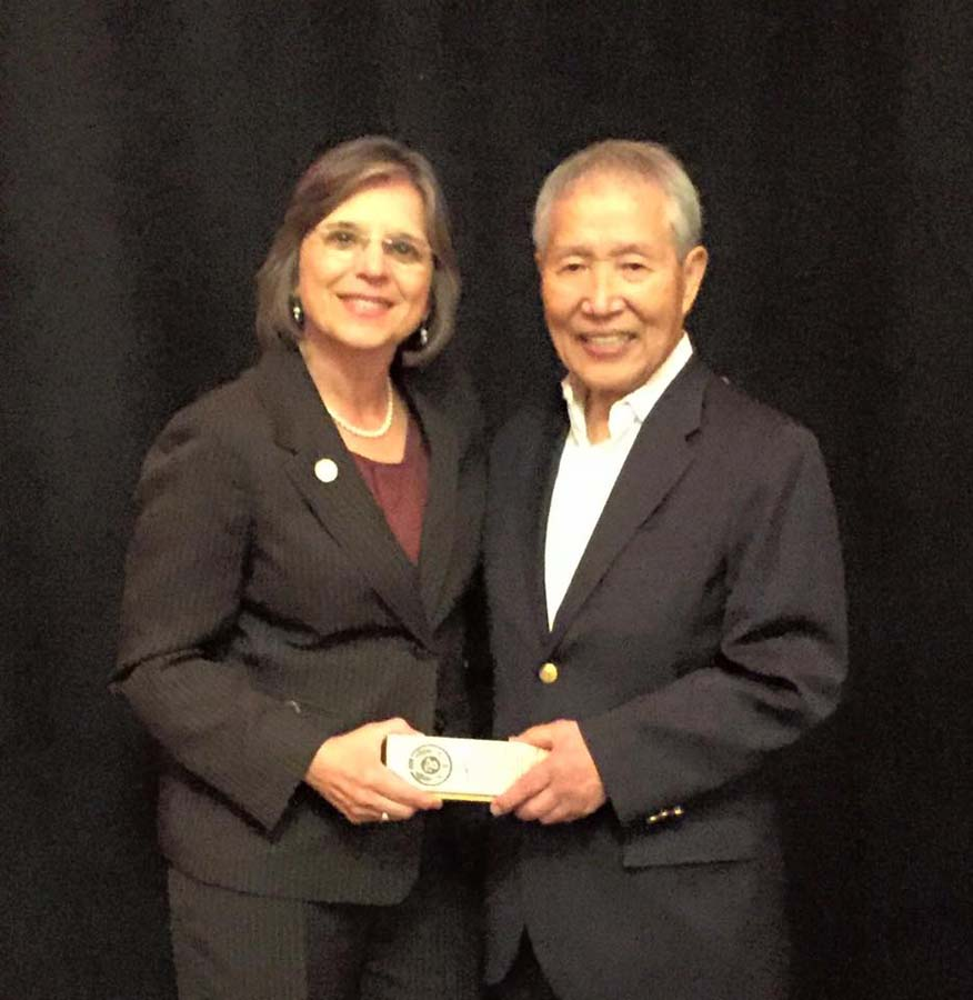 September 18, 2016 – Assemblywoman Lupardo with Master Hidy Ochiai as he celebrated his 50th anniversary of teaching in the US.<br />