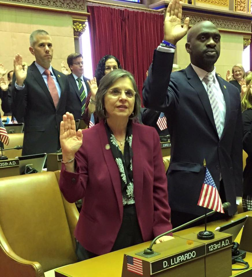 January 4, 2017 - Assemblywoman Lupardo is sworn in for her seventh term in the State Assembly.<br />