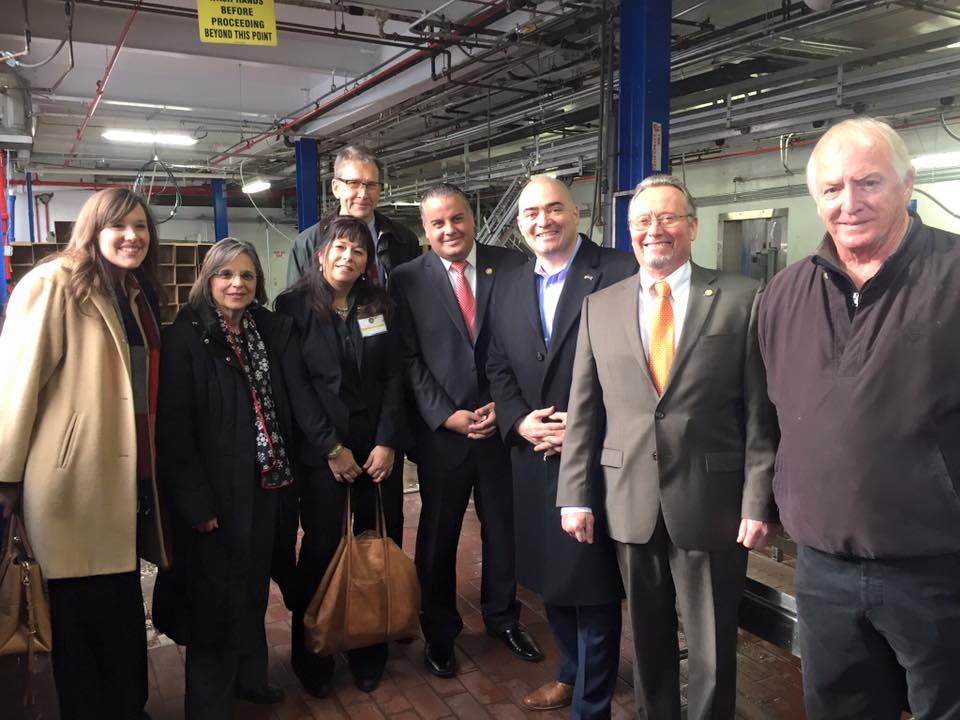 December 21, 2016 – Assemblywoman Lupardo joins Commissioner of Agriculture & Markets Richard Ball, Senator Akshar, Mayor David, Chamber of Commerce President Jennifer Conway, Broome CCE Executive Director Vicky Giarratano, and Jan Nyrop from Cornell University for a tour of Mountain Fresh Dairy in Binghamton.<br />