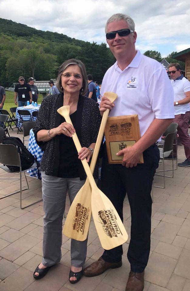 Assemblywoman Lupardo and Broome County Executive Jason Garnar at the annual Adirondack Challenge.<br />