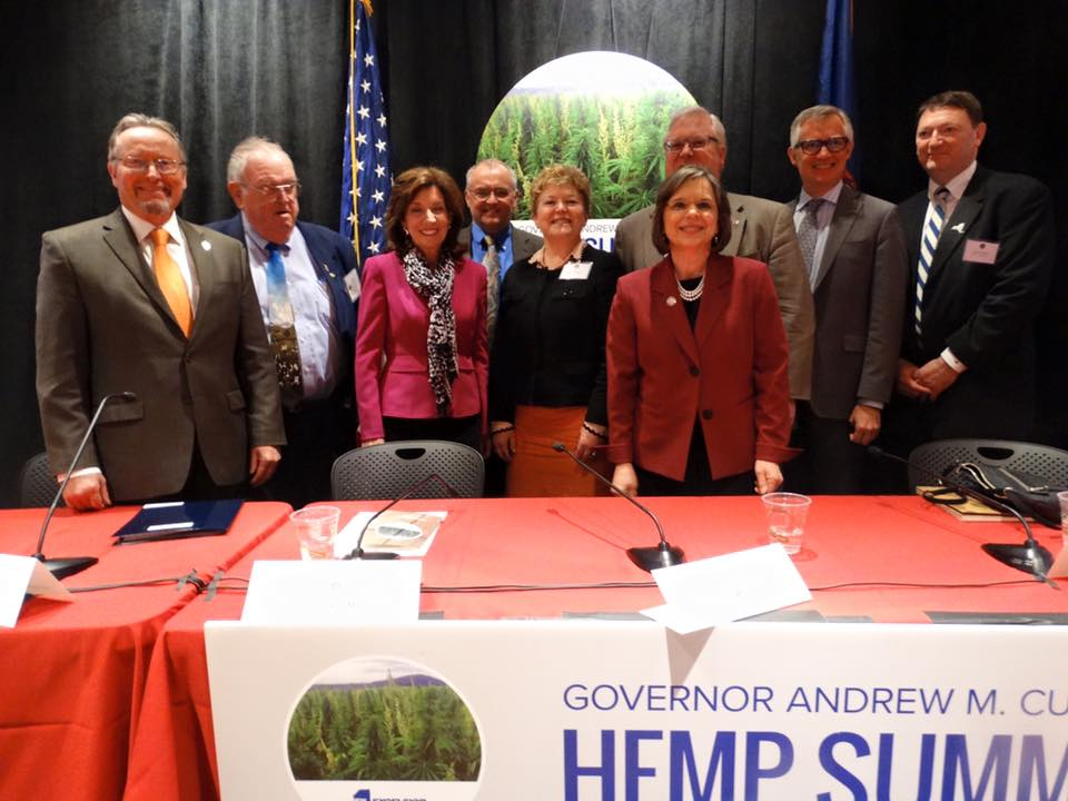Assemblywoman Lupardo joins Lieutenant Governor Kathy Hochul and Commissioner of Agriculture & Markets for the inaugural Industrial Hemp Summit at Cornell University.<br />