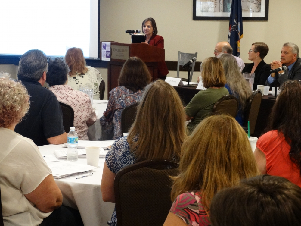 September 26, 2017 – Assemblywoman Lupardo, Chair of the Assembly Committee on Aging, gives opening remarks at an elder financial exploitation training in Binghamton.<br />