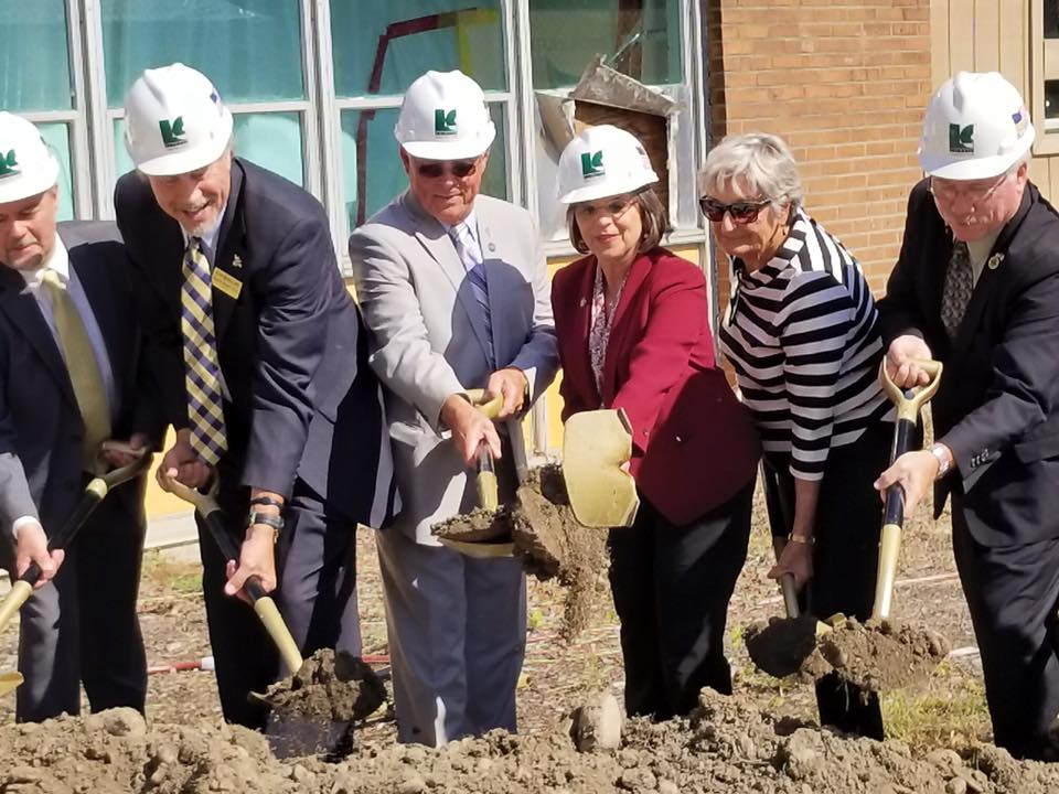 September 21, 2017 – Assemblywoman Lupardo helps break ground at the new Paul & Mary Calice and Mildred Barton Advanced Manufacturing Center at SUNY Broome.<br />