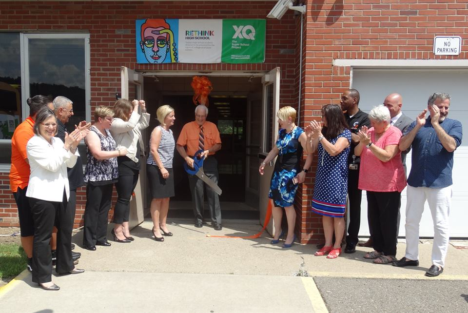 July 21, 2017 – Assemblywoman Lupardo attends a celebratory ribbon cutting after Union-Endicott School District's Tiger Ventures program was awarded $2.5 million from XQ The Super School Project.