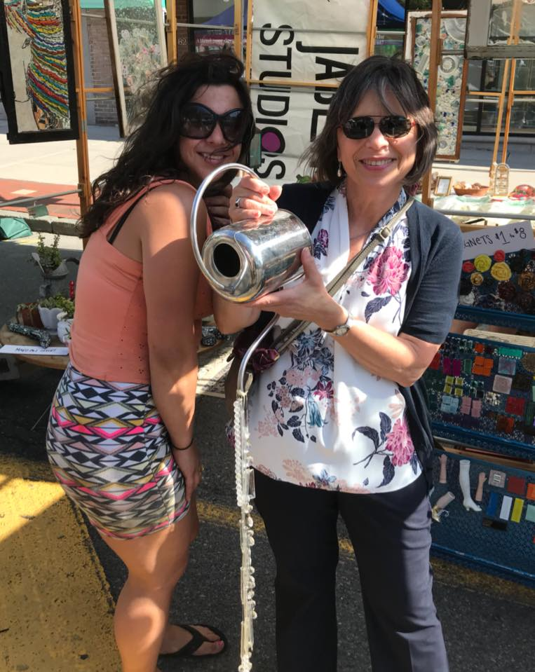 July 6, 2018 – Assemblywoman Lupardo with local artist Emily Jablon at the annual July Fest in Binghamton.