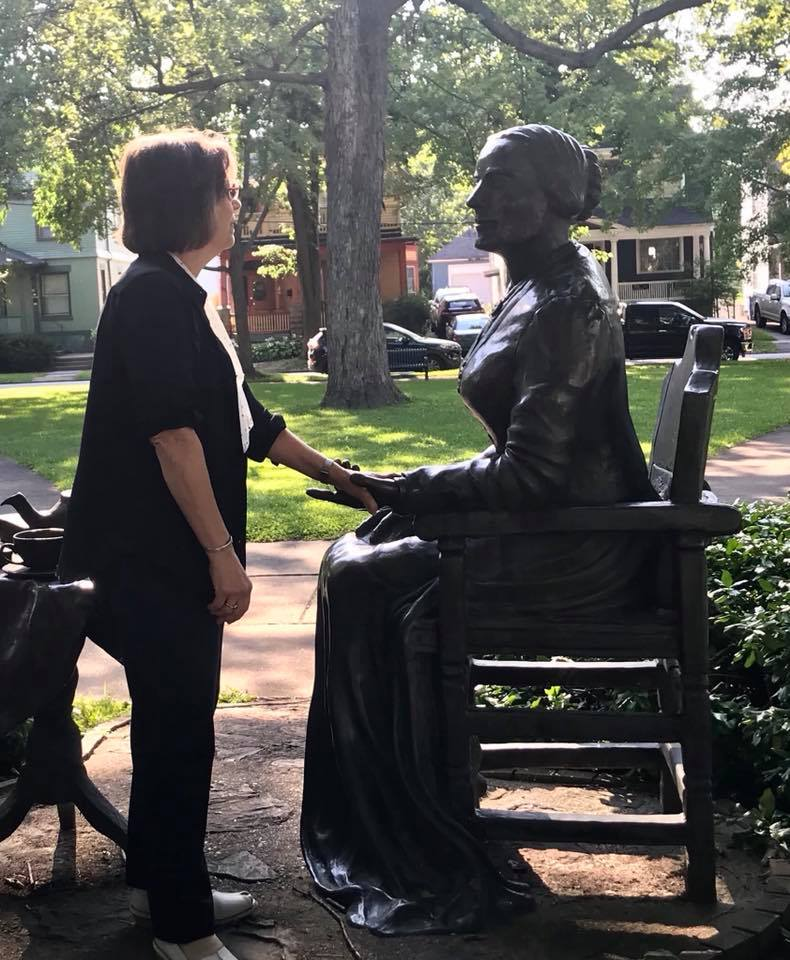 August 23, 2018 – Assemblywoman Lupardo at the Susan B. Anthony House after attending the Seneca Falls Revisited Conference.