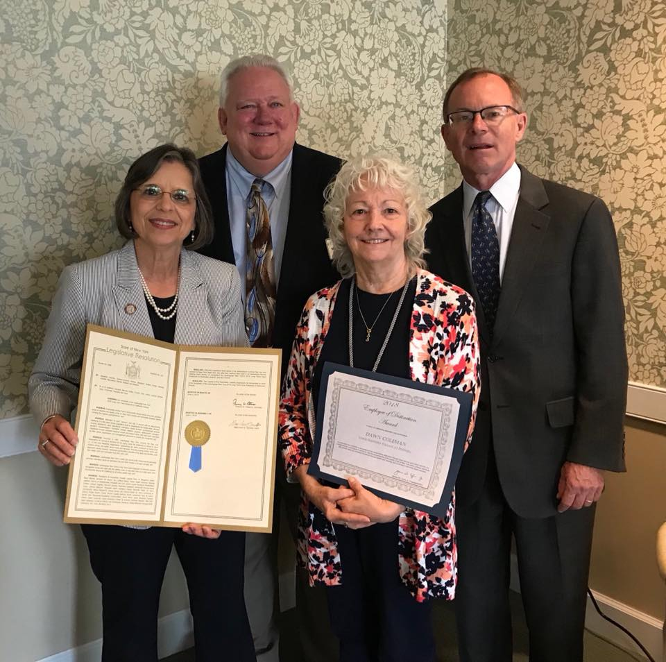 August 9, 2018 – Dawn Coleman of Good Shepherd Village at Endwell was one of LeadingAge NY's 16 statewide Employee of Distinction awardees.