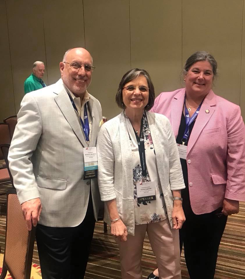 August 7, 2018 – Assemblywoman Lupardo with colleagues Assemblyman Mike Benedetto and Assemblywoman Carrie Woerner at the Council of State Governments Eastern Regional Conference. Lupardo delivered an