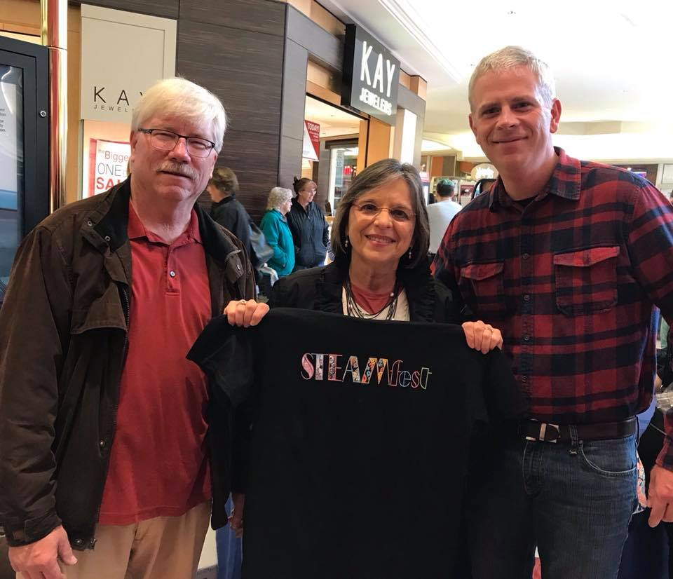October 20, 2018 – Johnson City Mayor Greg Deemie, Assemblywoman Lupardo, and County Executive Jason Garnar at STEAMfest.