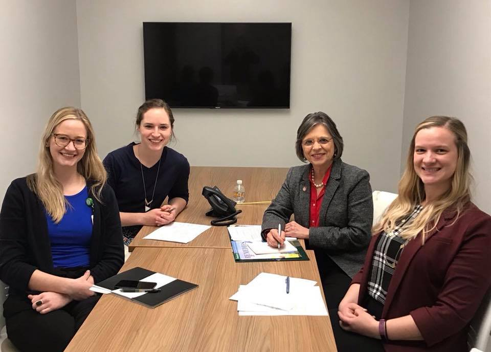 November 29, 2018 – Assemblywoman Lupardo meets with faculty at the Binghamton University Pharmacy School to discuss legislation that impacts their profession.