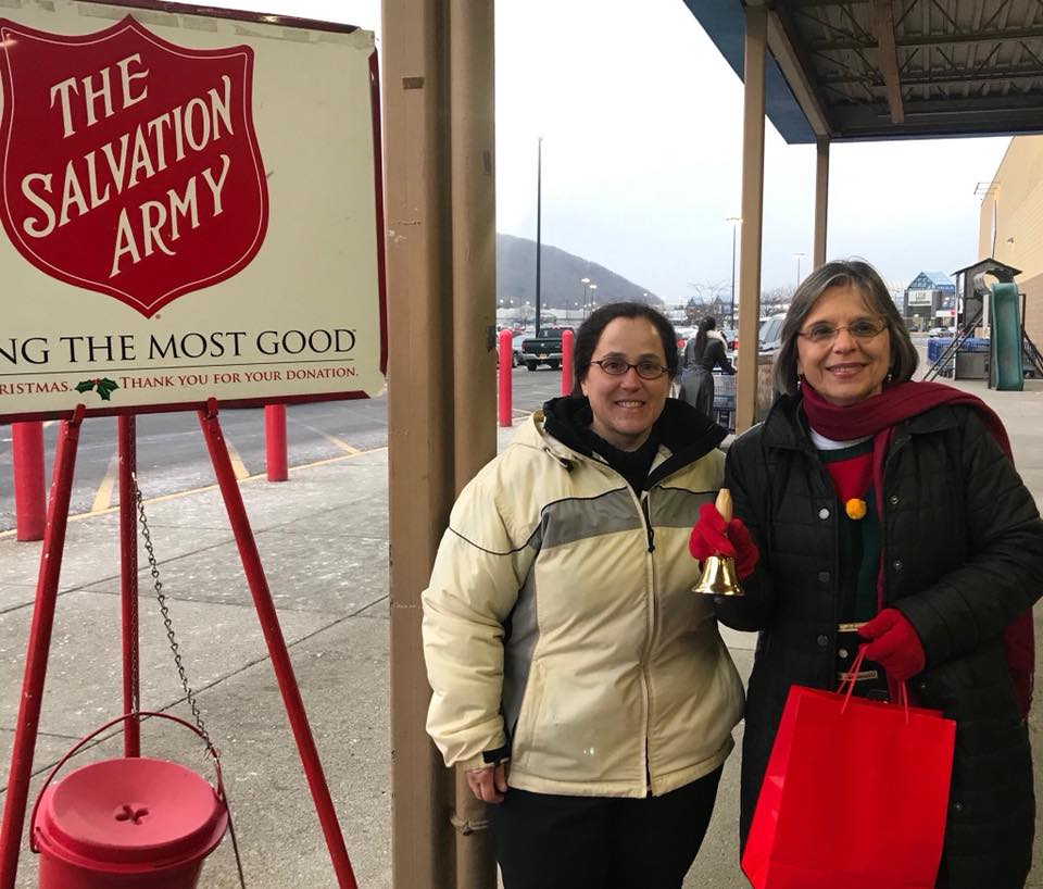 December 20, 2018 – Assemblywoman Lupardo rings the bell for the Salvation Army at Sam's Club in Vestal.