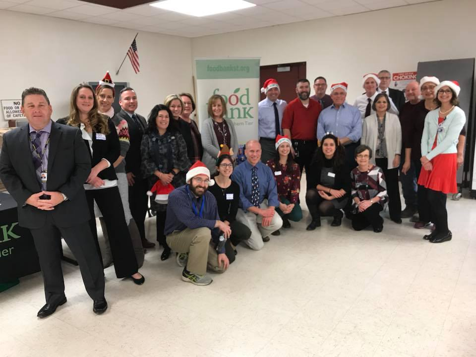 December 5, 2018 – Assemblywoman Lupardo and her local government, education, and non-profit colleagues pack more than 1,000 backpacks for the Food Bank of the Southern Tier.