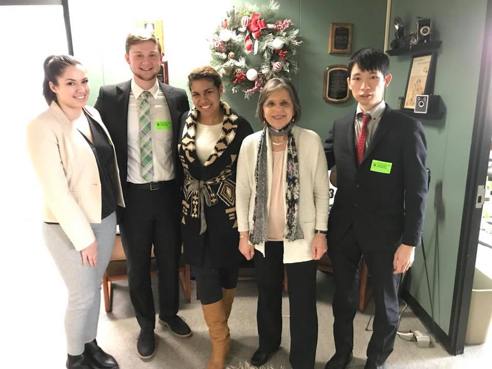 December 5, 2018 – Student leaders from Binghamton University meet with Assemblywoman Lupardo as part of the SUNY Student Association's Student Advocacy Week.
