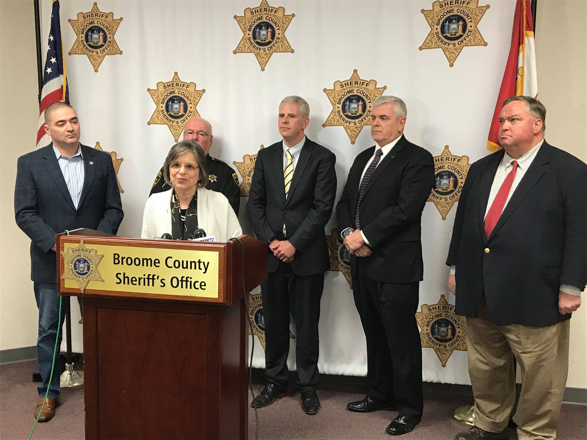 January 10, 2019 – Assemblywoman Lupardo joins local colleagues to announce details of her bill to allow central arraignments at the Broome County Correctional Facility, which was recently signed